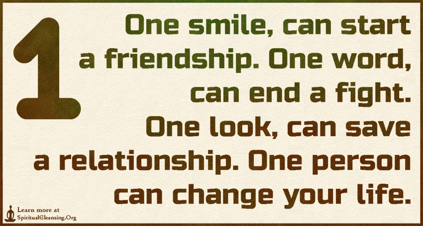 One Smile Can Start A Friendship One Word Can End A Fight One