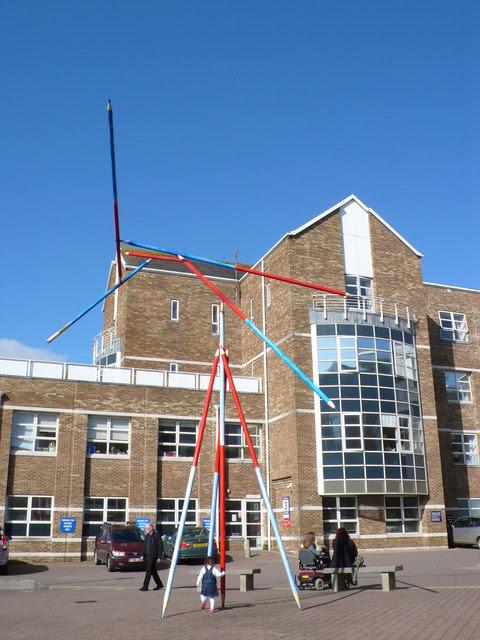 Pencil Sculpture Dorset County Hospital Nigel Mykura Cc