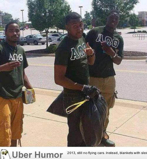 African American Fraternity Cleaning Up After The Ferguson Protests