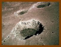 Crateras em Winslow, no Arizona.