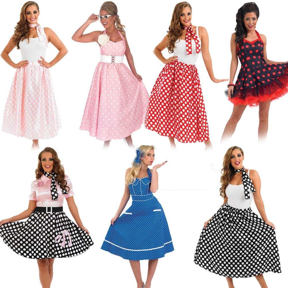50s fancy dress  ladies 1950s costume womens rock n roll