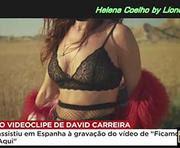 Helena Coelho sensual em videoclip do David Carreira