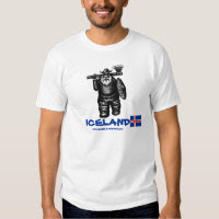 Funny viking Iceland t-shirt design