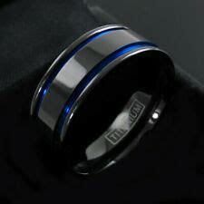 mens titanium wedding bands ebay