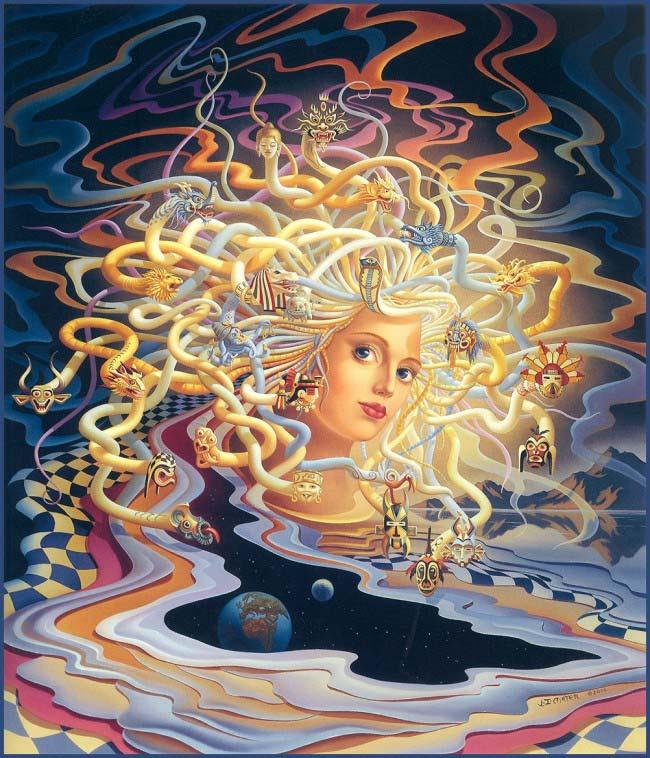 Pintura Medusa de Ilene Meyer