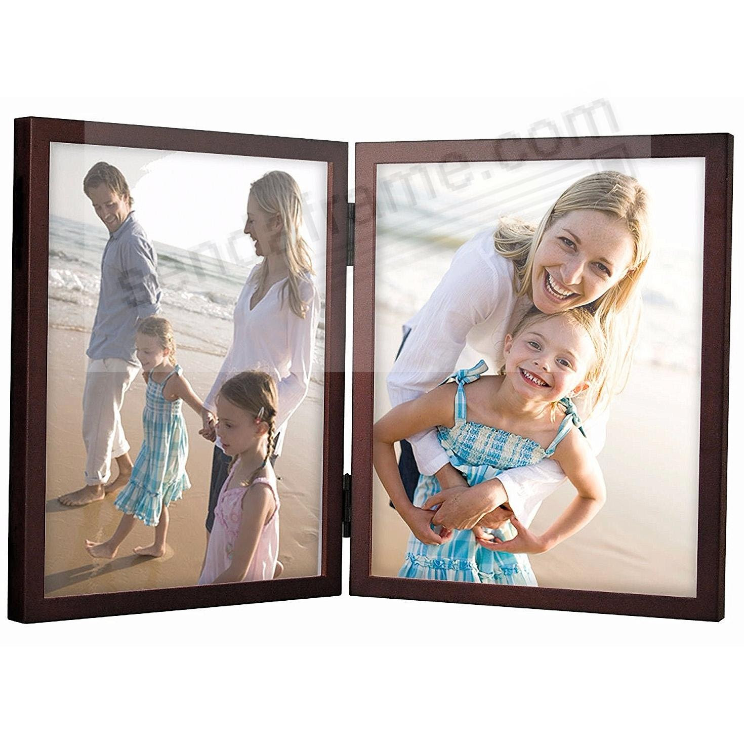 Double Hinged Walnut Concepts Wood 8x10 Frame By Malden Picture