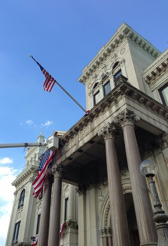 Raising the flags for the inauguration of Jersey City's new mayor