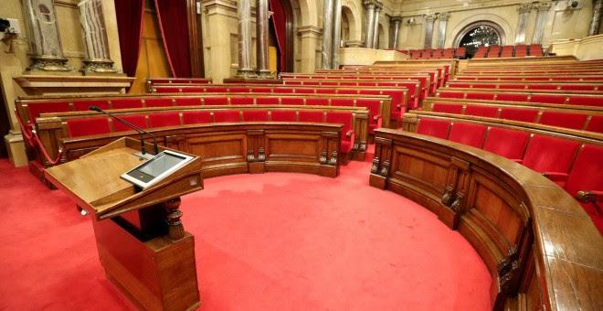 El hemiciclo del Parlament de Catalunya. REUTERS