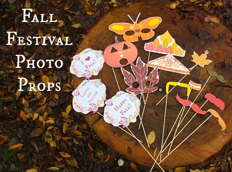 Fun Fall Festival Photo Props Inner Child Fun