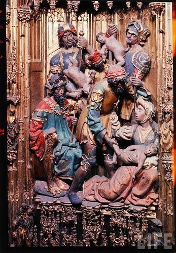 Detalle del altar mayor de la Catedral de Toledo en 1963. Fotografía de Dmitri Kessel. Revista Life (19)