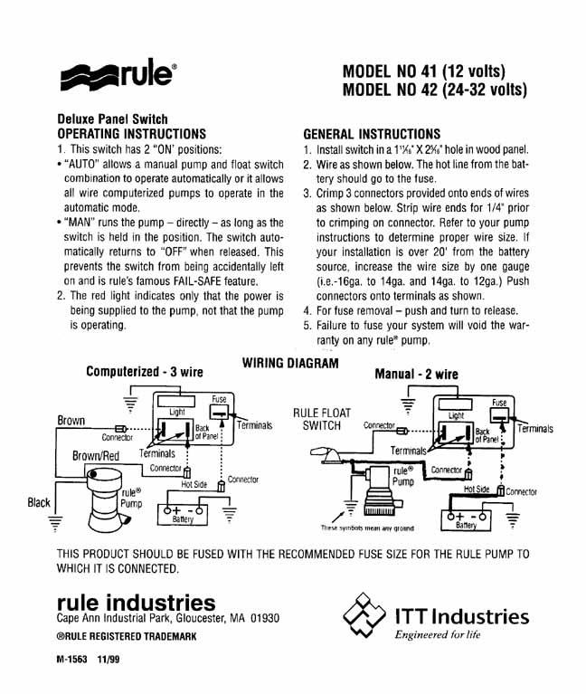 33 Rule Automatic Bilge Pump Wiring Diagram