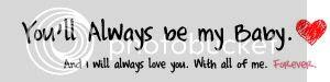 always be my baby
