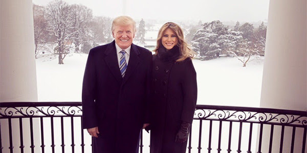 President Donald Trump and first lady Melania Trump on March 22, 2018 (Photo: Twitter/Melania Trump)