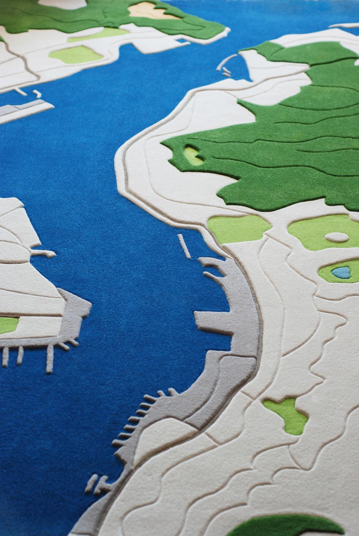 Florian Pucher Turns Aerial Photos into Plush Carpeting carpets aerial