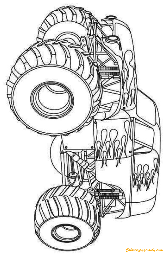 Hot Wheels Monster Truck Coloring Page - Free Coloring ...