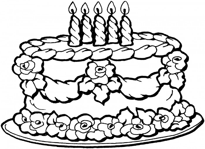 Happy Birthday Coloring Pages | Clipart Panda - Free ...