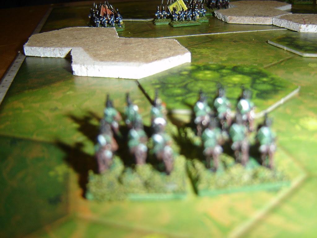 French hussars await Portuguese advance
