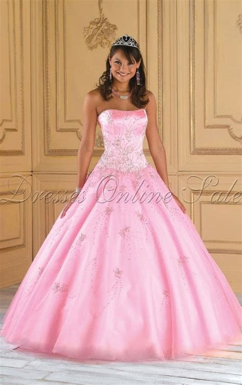Buy UK Ball Gown Floor length Strapless Pink Dress, Ladies