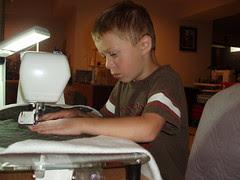 Kyler Sews Age 5