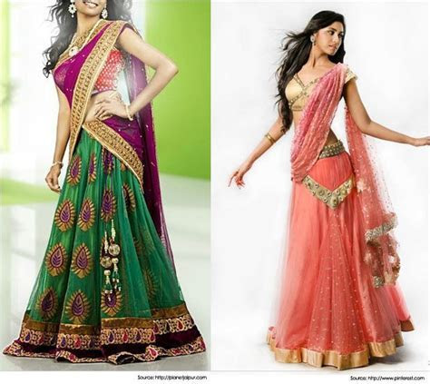 Best 28 Half Saree Designs for Weddings   Latest Half