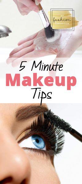 5 minutes makeup tips