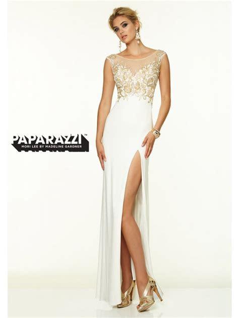 Mori Lee 97078 Slinky Backless Look Dress Vanilla/Nude