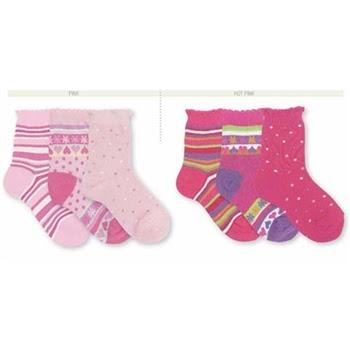 Jefferies Pick-a-Mix Crew Kids Socks for Girls - 3 Pair
