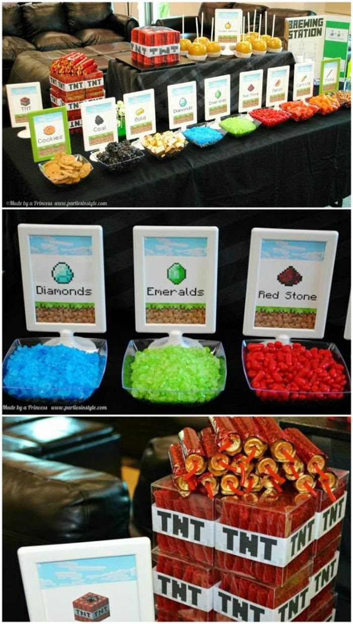 Minecraft Party with AWESOME Ideas via Kara's Party Ideas KarasPartyIdeas.com #Minecraft #PartyIdeas #Supplies #TweenParty #Games