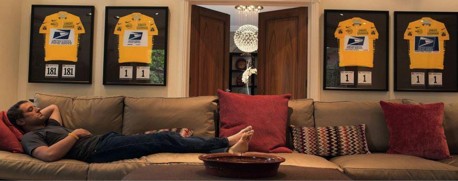 Armstrong in casa sua
