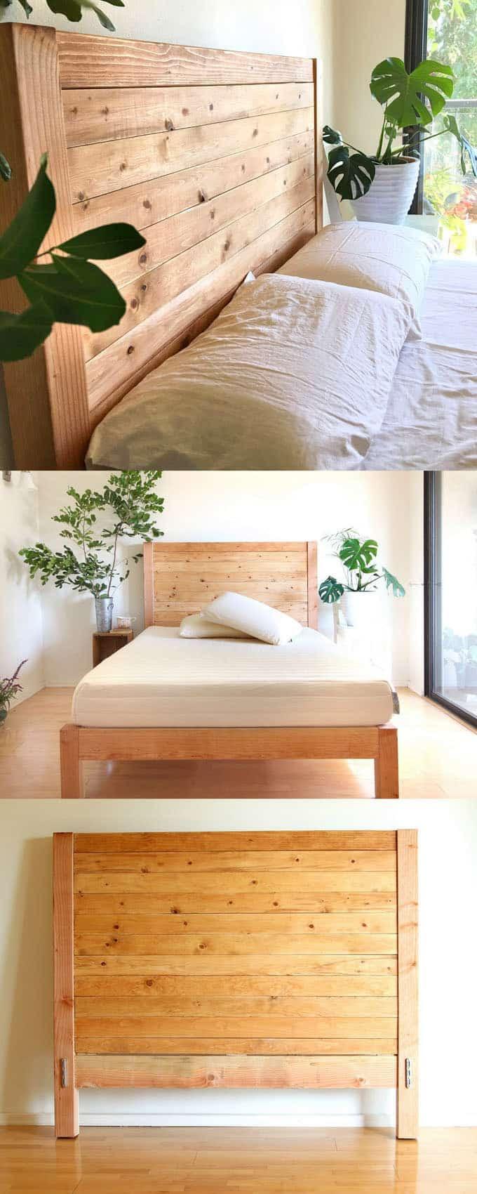 FB1505 DIY headboard with beautiful shape wooden backboard