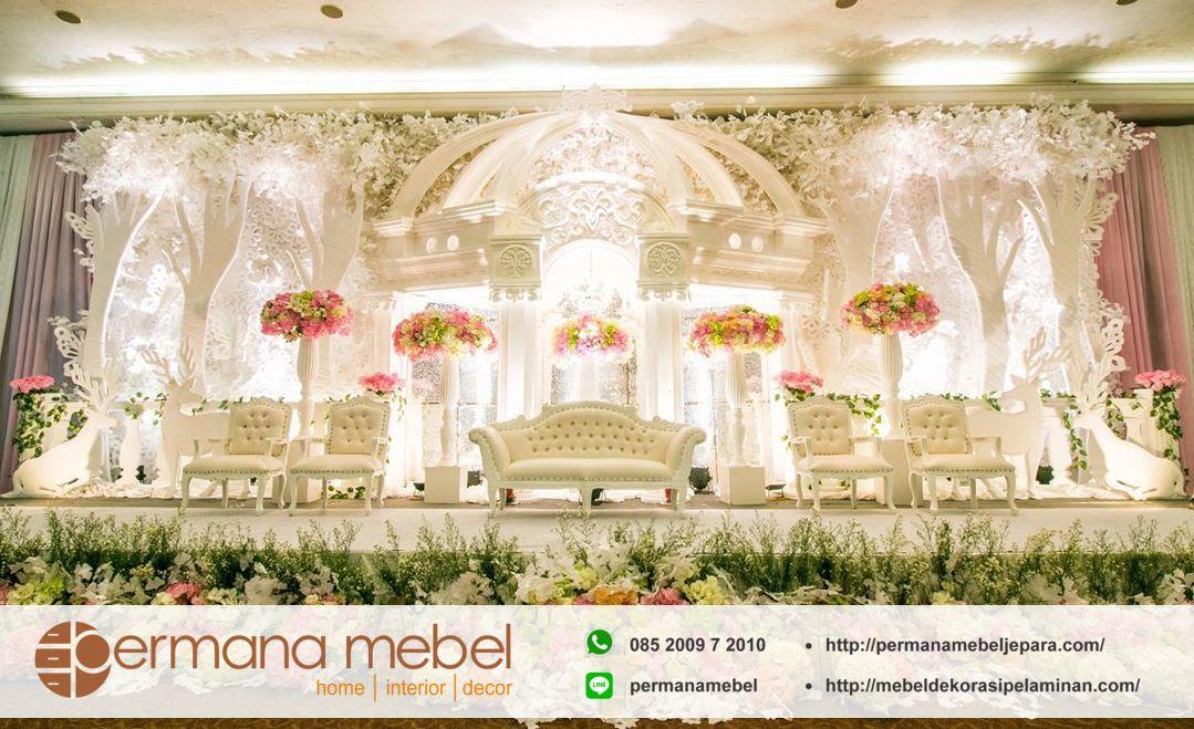 Desain Pernikahan Foto Dekorasi Pelaminan Modern Minimalis