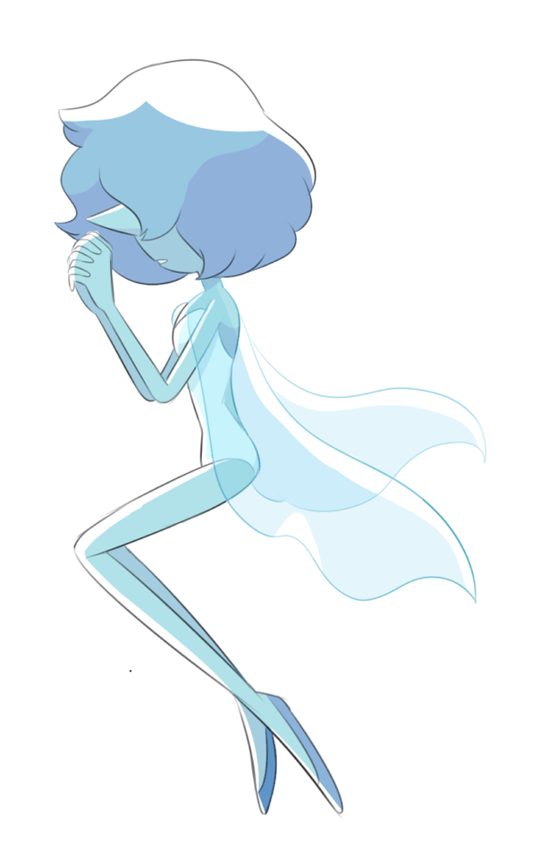 A blue Pearl to mirror my Yellow Pearl drawing.
