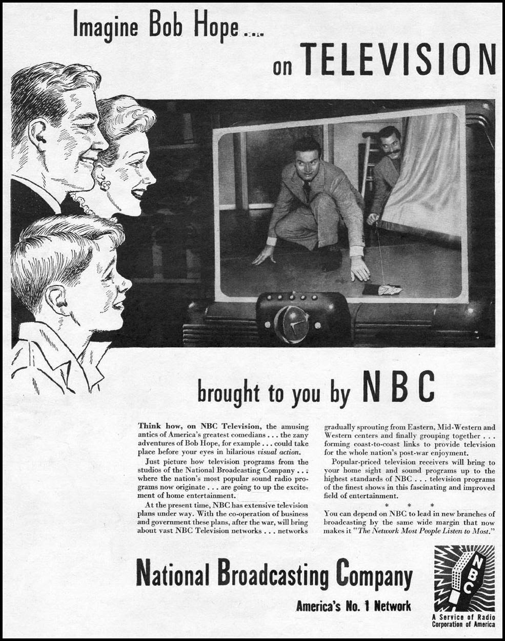 NBC TELEVISION NETWORK LIFE 11/13/1944 p. 48
