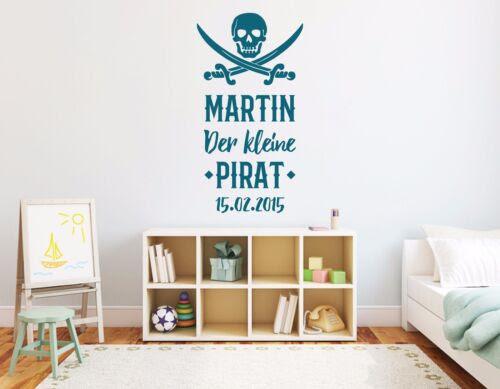 Wandtattoos Wandbilder Wandtattoo Name Kinderzimmer Baby Junge Kleiner Pirat Wunschname Datum Pkm175 Mobel Wohnen