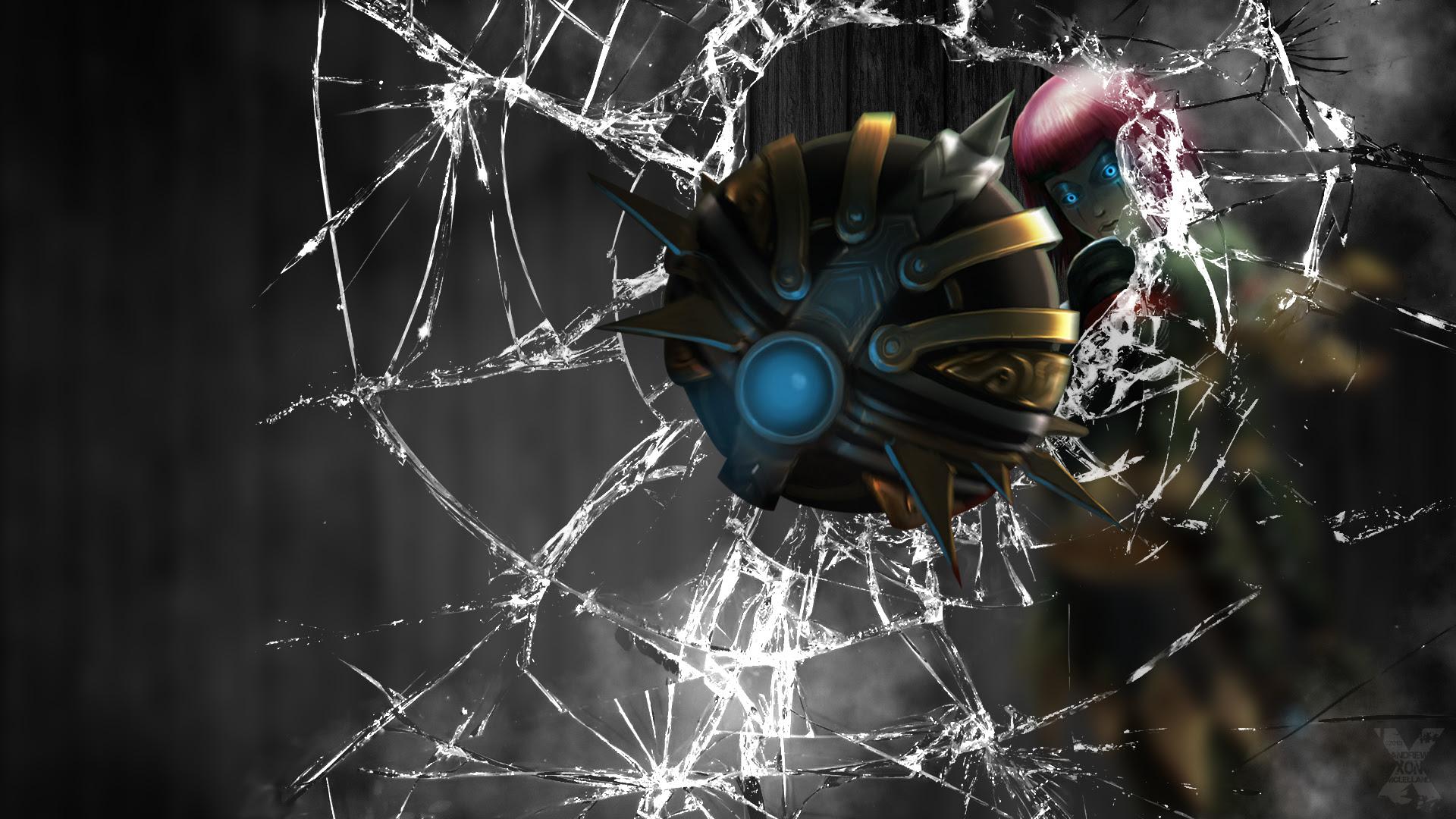 Bladecraft Orianna Screen Crack Wallpaper League Of Legends