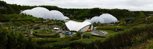 a stitched panoramic photograph of the Eden Project