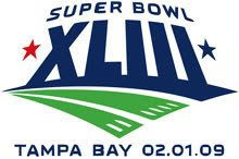 The logo for Super Bowl XLIII in Tampa Bay, Florida.