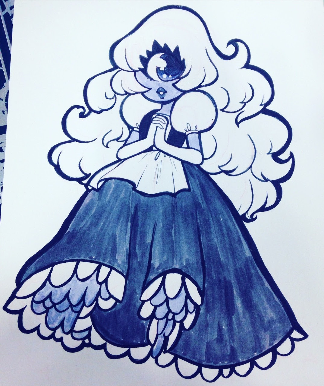 Sapphire commission at San Japan! I'm still here at table B102! 😘