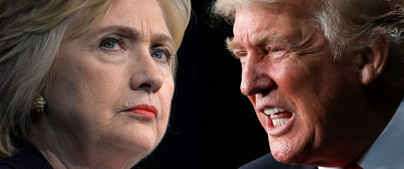 Election 2016 di antara Donald trump & Hillary Clinton