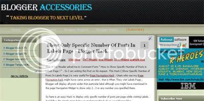 Blogger Accessories three column blogger Template