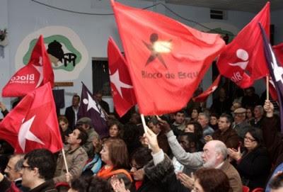 Comício do Bloco na Baixa da Banheira, 14 de Novembro de 2010 – Foto de José Luís Costa/Lusa