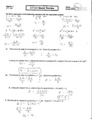 91 CHAPTER 8 TEST FORM 2A GEOMETRY ANSWERS