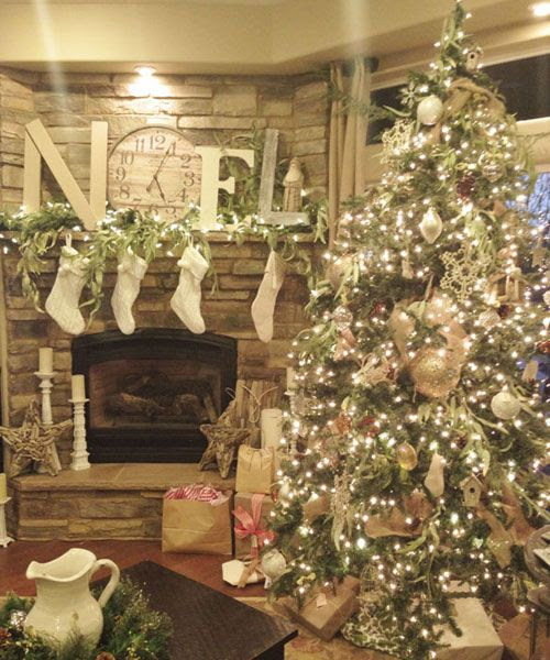 "Hey everyone!!!! This is my cousin's tree...See if you can get to the Country Living Pinterest page and ""Like"" it...the one with the most likes wins!!! (Note is from from Becki :-) From Shadd Marci in Gridley, California"