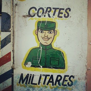 Army hairdressers. Mexico