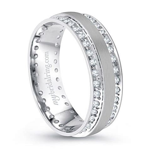 333 best Mens White Gold Wedding Bands with Diamonds