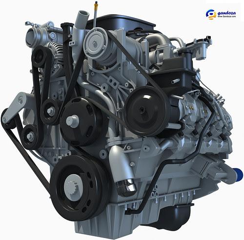 2011 Duramax Diesel 6.6L V8 Turbo Engine by Gandoza