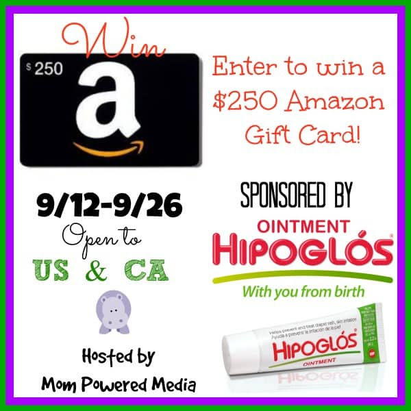 Enter the $250 Hipoglos Amazon Gift Card Giveaway. Ends 9/26.