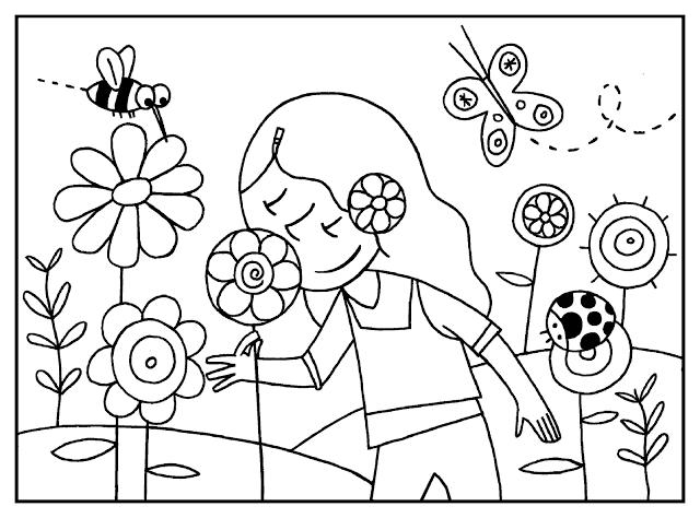 Primavera Para Colorear