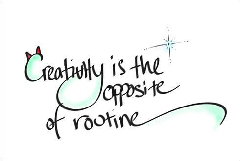 Creativity, citazione sulla creativita', logo