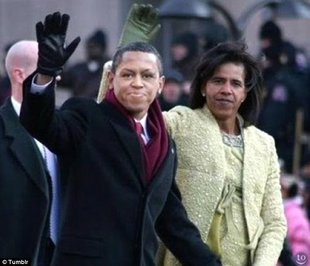 Power faces: Barack Obama and his wife Michelle are just some of the figures who have been subjected to a face swap